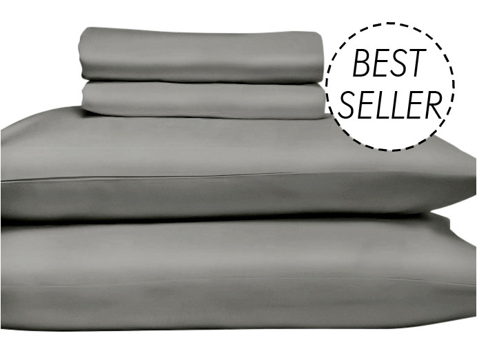 QUEEN Premium Egyptian Cotton 1000TC sheet set in 'Charcoal' by The Bedroom Society™