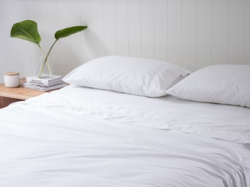 KING Premium Egyptian Cotton 1000TC sheet set in 'Classic White' by The Bedroom Society™