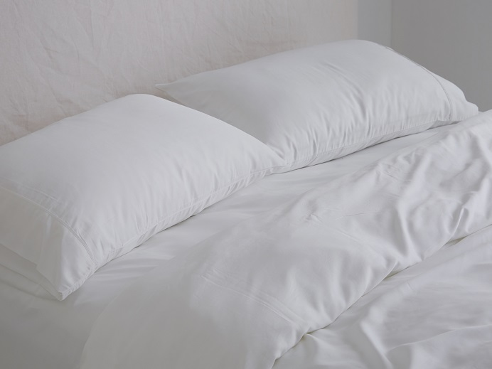 Luxurious Organic Bamboo Pillowcase Set in White (1)