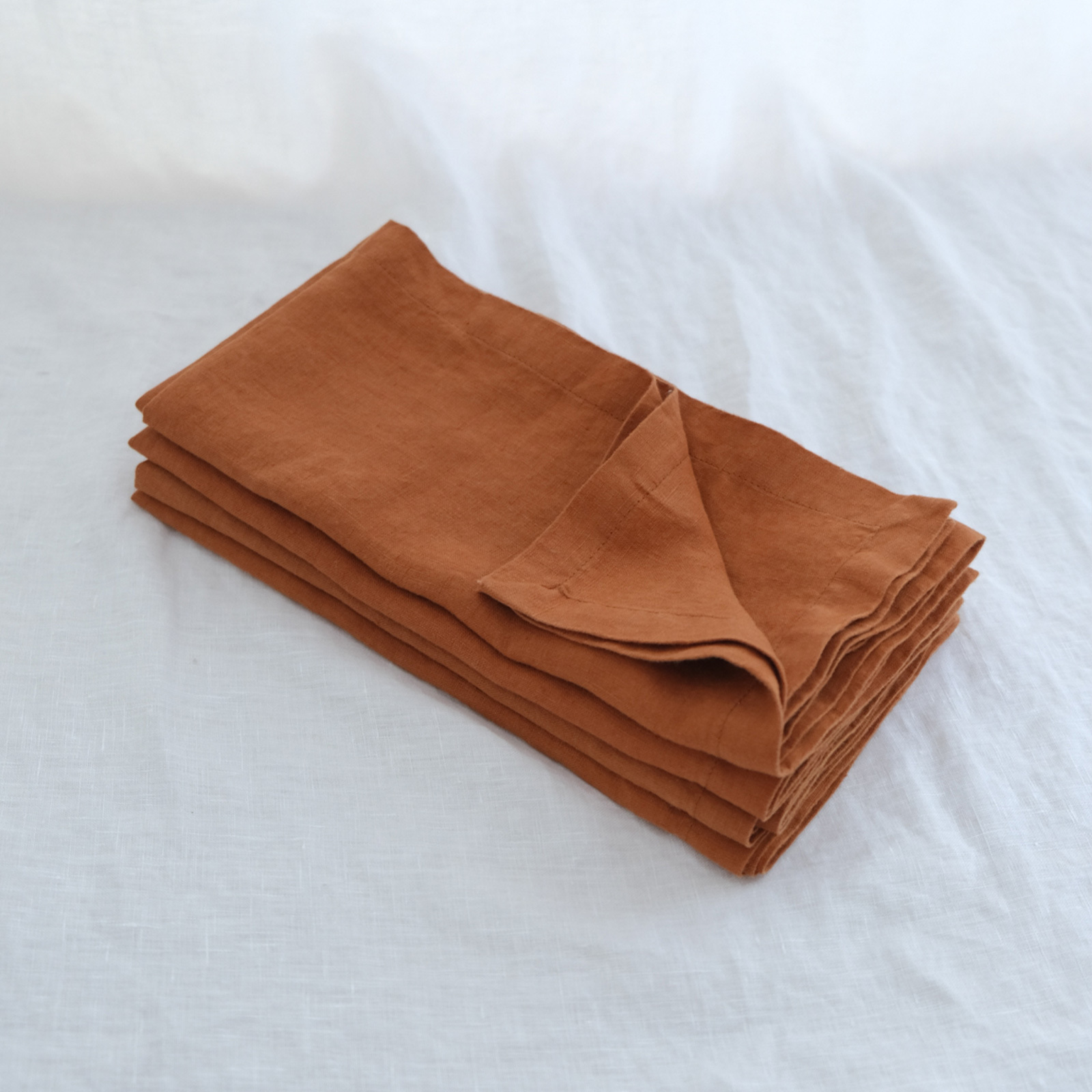 Pure French linen napkins in Ochre (set of 4)