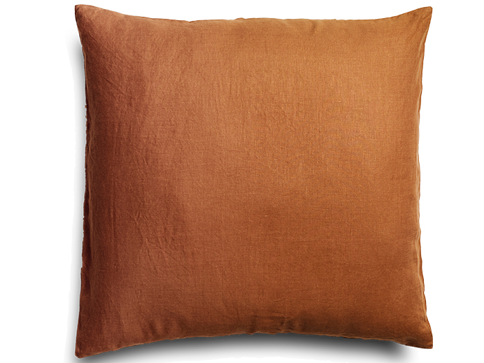 Ochre European Linen Pillowcase