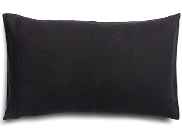 Pure french linen 'le petit' cushion cover in Inky Charcoal