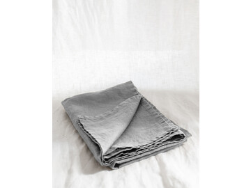 SET of french linen Tea Towel (2) in Soft Grey