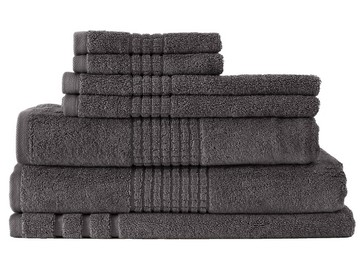 Thick Egyptian Cotton Bath Towel Charcoal