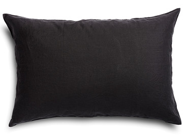 100% pure linen Inky Charcoal standard pillowcase (1)