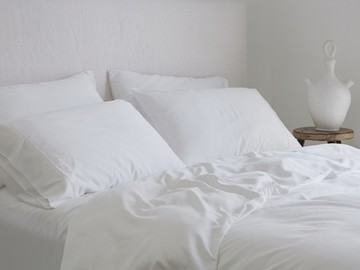 Luxurious Organic Bamboo Quilt Cover Set in White