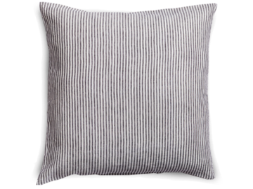 100% Pure Linen European pillowcase in Charcoal Stripes (1)