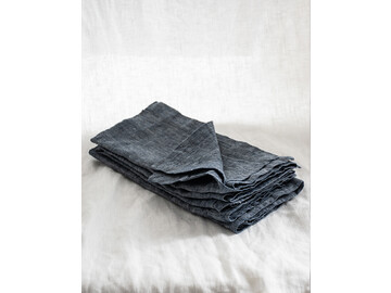 Pure French linen napkins in Deep Blue Chambray (set of 4)