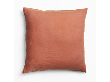 100% Pure Linen European pillowcase in Desert Rose (1)