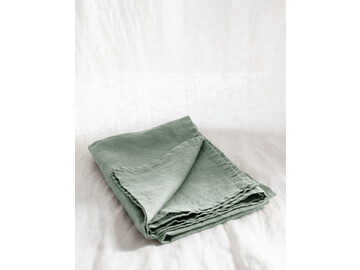 SET of french linen Tea Towel (2) in Sage