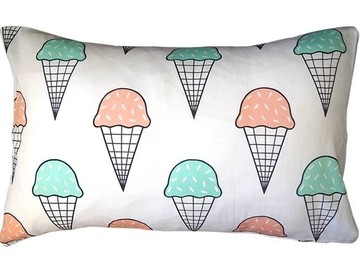 Pastel Mint and Strawberry ice cream pillow case (1)
