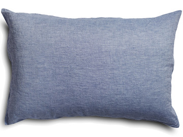 100% pure linen Baby Blue chambray standard pillowcase (1)
